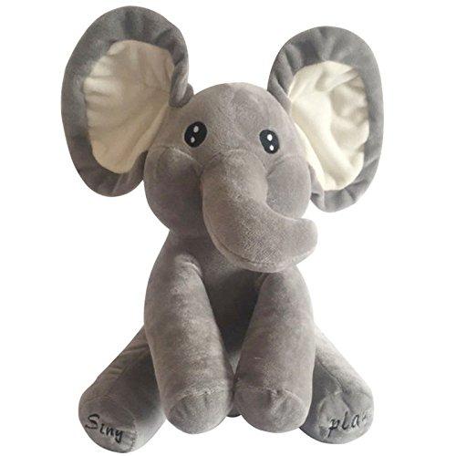 Cute Elephant Plush Toy Singing Stuffed Animated Kids Gift