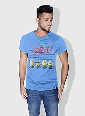 Creo Thug Minions Round Neck T-Shirt For Men - Blue, Xl