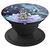 Alice In Wonderland & The Smoking caterpillar - PopSockets Grip and Stand for Phones and Tablets