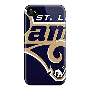 Shockproof Hard Cell-phone Case For Iphone 4/4s With Allow Personal Design High-definition St. Louis Rams Skin MansourMurray