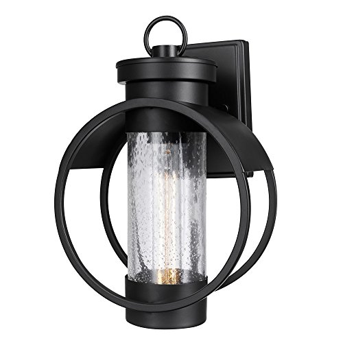 Cheap Globe Electric 44193 Balvin 1-Light Matte Black Outdoor Wall Sconce, Black