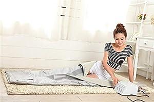 220V Couverture Sauna Chauffante Infrarouge Th/érapie Thermique Amaigrissement Perte de Poids
