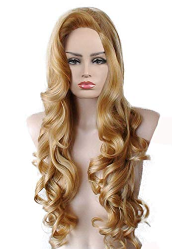 Female Cartoon Character Halloween Masquerade Playing Game Big Wave Hair Jessica Cosplay Wig -
