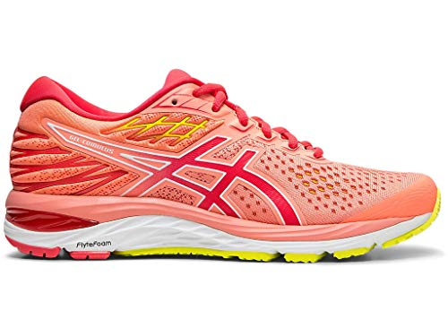 ASICS Women's Gel-Cumulus 21 SP Running Shoes, 8.5M, Sun Coral/Laser Pink