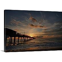 """Canvas on Demand Premium Thick-Wrap Canvas Wall Art Print entitled Dania beach at sunrise 48""""x32"""""""