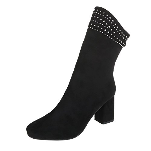 Boots Black Kitten Design Boots at Heel Heeled Women's Ankle Ital CXzqS