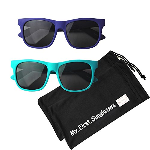 Kids Sunglasses (W120mm - Navy Blue and Teal (2 Pack))