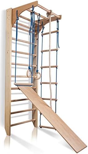 KindSport Barras de Pared con Barra de Altura Ajustable Kombi-3-220, Escalera Sueca, Gimnasia de los niños en casa, Complejo Deportivo de Gimnasia: Amazon.es: Bebé