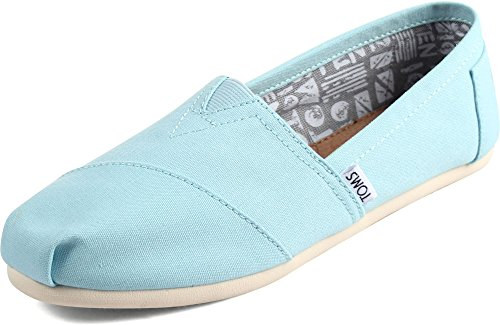 TOMS Women Slip-On Shoes, Size: 6 B(M) US, Color Canal Blue