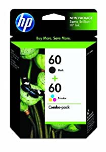 HP 60 Black/Tri-color Combo Pack Ink Cartridges