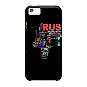 Protection Case For Iphone 5c / Case Cover For Iphone(continents)