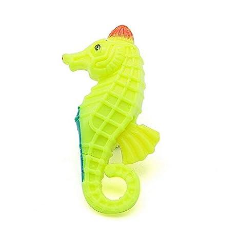 Caballito de mar amarillo hipocampo artificial para decorar tu acuario, pecera, estanque, cuarto de baño, cuadros 3D de OPEN BUY: Amazon.es: Hogar