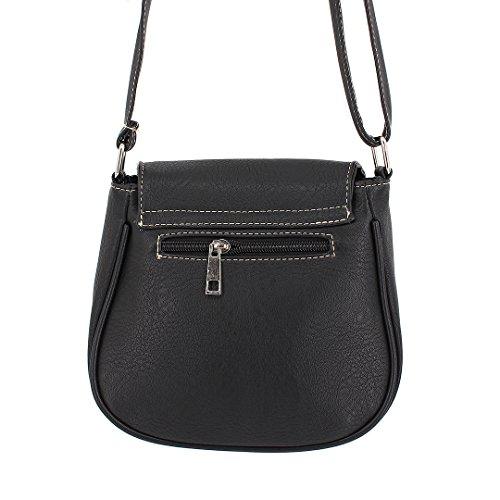 Black Shoulder Pu Vintage Women Girl Bags Leather Pw6Y4n8q