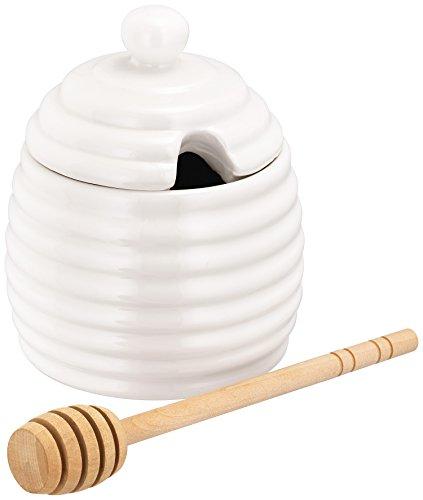 Judge Table Essentials Ceramic White Honey Pot with - Honey Pot White