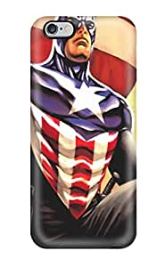 Protection Case For Iphone 6 Plus / Case Cover For Iphone(captain America Comic Avenger Soldier Superhero Action Fiction Fantasy Marvel Cartoon Paint Book Nov Anime Other)
