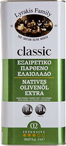 Lyrakis Family seit Olijfolie Extra Vierge Koudgeperst 5l om te koken | PREMIUM | Griekse | Kreta | Maatopties: Tin 5l…