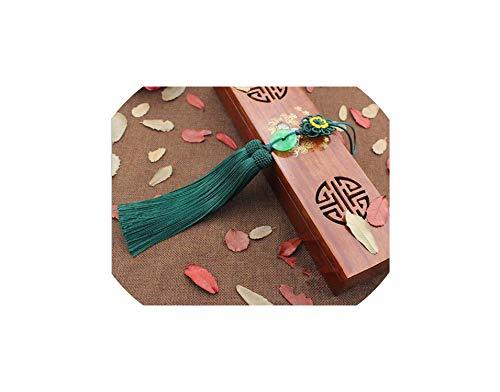 1 Pcs Tassels 33Cm Long Pendant Chinese Knot Tassel Pendant Tassel Means Peace,33 cm,Dark Green Double Happiness Green Pendant