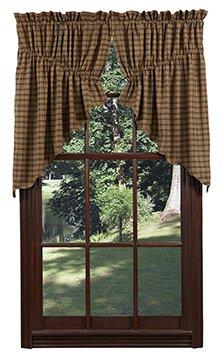 Nancys Nook Barrington Prairie Curtain Lined Set Of 2 63x36x18