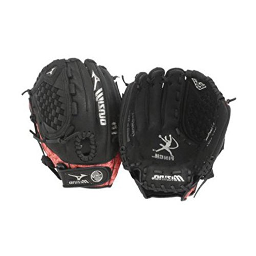Mizuno Youth GPP1155 Prospect Fast Pitch Softball Mitt (Black/Pink, 11.50-Inch, Left Handed Throw) (Ball Glove Youth Fastpitch)