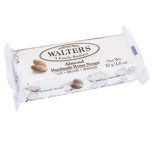 Walters Homemade Honey Almond Nougat, 2-Ounce Packages (Pack of 6)