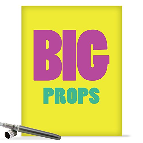 J9686 Jumbo Funny Congratulations Card: Big Props With Envelope (Extra Large Version: 8.5'' x 11'')