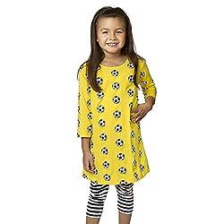 Svaha Big Girls Soccer Ball All-over-print A-line Dress (Big Girls Youth Xtra Large)