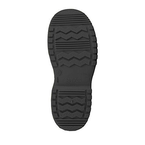 Servus SuperFit 4 PVC Doble Compuesto Slip-On para hombre, negro (11993-Bagged)