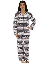 PajamaMania Women's Sleepwear Flannel Pajamas PJ Set