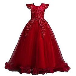 Big Girls Flower Princess Tulle Dresses