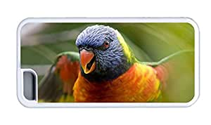 Cute iphone case customizable Parrot birds close up TPU White for Apple iPhone 5C
