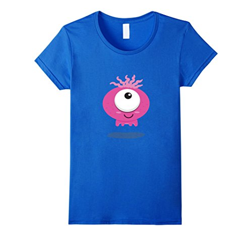 Womens Monster Halloween T Shirt Easy Group Costume Boys Girls Cool Large Royal (Cool Group Costume Ideas)