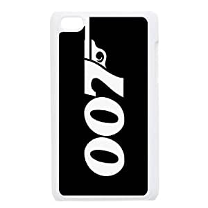 Popular And Durable Designed TPU Case with 007 James Bond iPod Touch 4 Case White