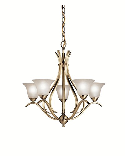 Kichler 2020AB Dover Chandelier 5-Light, Antique - Fan 4 Antique Light Brass