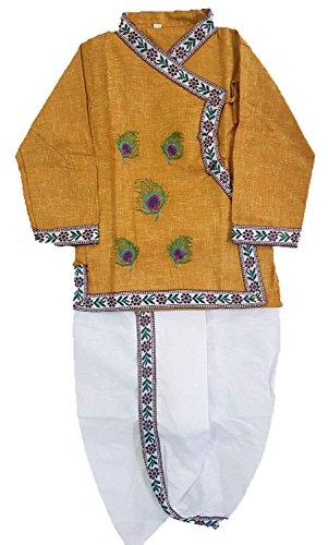 Dhoti Kurta (Winmaarc Handloom Bagal Bandi Boys and Girls Dhoti Kurta Kids Ethnic Wear Little Krishna Janmashtami Dress)