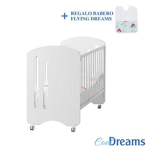 CUNA ALOHA COLECHO DE MANDARINA + RUEDAS + KIT COLECHO INCLUÍDO (16 POSICIONES DE COLCHÓN, LATERAL ABATIBLE, SE ADAPTA A CUALQUIER CAMA): Amazon.es: Bebé