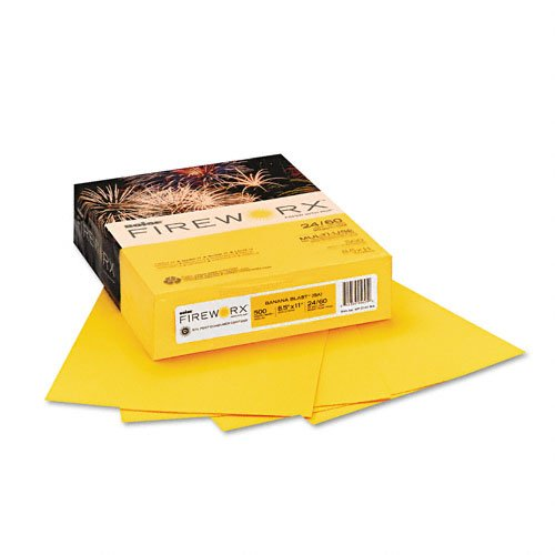 Banana Blast (Boise Fireworx Color Copy/Laser Paper, 24 lb, Letter Size (8.5 x 11), Banana Blast, 500 Sheets (MP2241-BA))