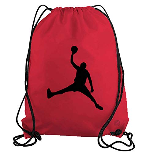 (Jordan Dunk Basketball Player Drawstring Gym Bag workout cinch nylon backpack)
