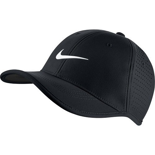 a5f475ef142e0 Nike Golf Junior Ultralight Perforated Adjustable Hat (Black White ...