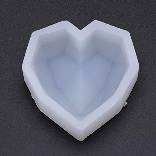 Misright Heart Irregular 3D Resin Casting Molds Silicone Mould for Pendant Bangle Bracelet Jewelry Making DIY Baking Craft Tool