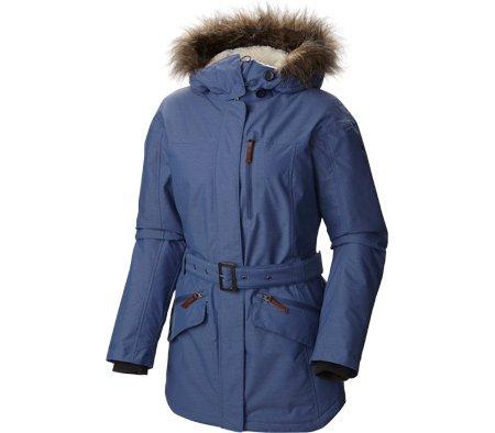 Columbia Women's Carson Pass II Jacket, Bluebell, - Belt Columbia Belted