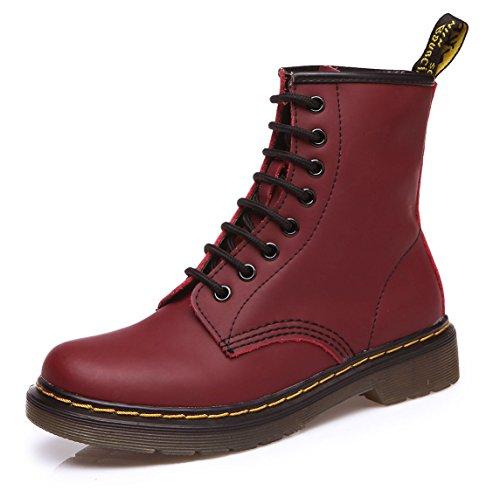 uBeauty - Bottes Femme - Martin Bottes - Boots Flattie Sport - Chaussures Classiques - Bottines À Lacets Rose UJhsN4w4