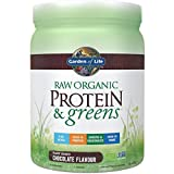 Garden of Life Greens and Protein Powder – Organic Raw Protein and Greens with Probiotics/Enzymes, Vegan, Gluten-Free, Chocolate 22oz (1lb 6oz/611g) Powder Review