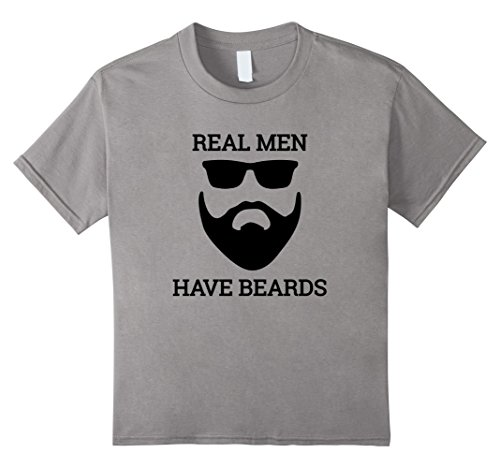 [Kids Real Men Have Beards And A Mustache No Goatee's Allowed 4 Slate] (Full Beard And Mustache Grey)