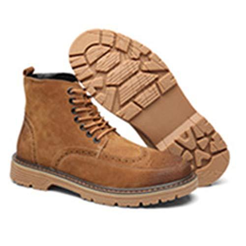 Martin Classici Classici Stivali Adulti Retro Pelle Brogue da Uomo in Stivali per Pelle Intagliati Brown Stivali Stivali da UqO5qwg4
