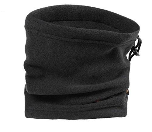 Polar Fleece Unisex Thermal Winter Neck Warmer Wind Stopper Beanie Hat Face Warm Mask Scarf Cap Snood Sports Snowboarding Cycling Ski Wear Hood (black) (Fleece Snood)
