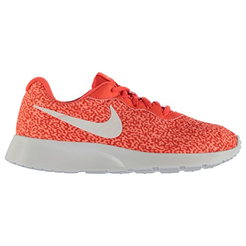 Tanjun Nike Senhoras Esporte Estilo De Vida Sneaker Impressão Vermelho / Sapatilhas Vermelhas Sapatos Casuais