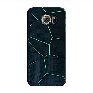 Cover It Up - Cyan Fractures Galaxy S6 Edge Hard case