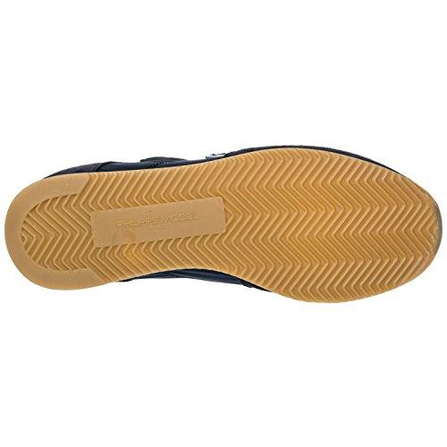 Uomo Scarpe Philippe Model Sneakers Tropez Model Nuove camoscio Blu Philippe nxrpawx