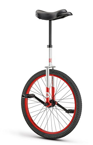 Raleigh Bikes Unistar SE 24, 24inch Wheel Unicycle, Red