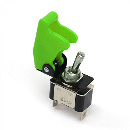 Keep It Clean 10926 Toggle Switch Race Toggle Switch With Safety Cover - Green
